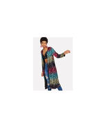 Sequin Open Front Outerwear Cardigan Party Multi Color Size XL NEW - $69.29