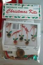 Vintage Christmas Ornament Kit Merri Mac Christmas Jewel 93-25 Makes 5 - $9.99