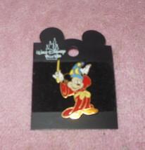 Walt Disney World Fantasia Sorcerer Mickey Mouse Pin Pinback New - $18.99