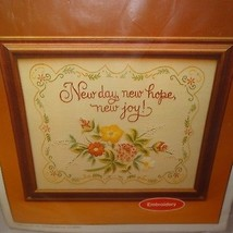 New Day Hope Joy Embroidered Sampler Kit Flowers Inspiration Current 198... - $14.99