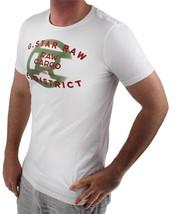 NEW NWT G-STAR RAW MEN'S PREMIUM ORDER LOGO COTTON GRAPHIC T-SHIRT TEE MILK image 2