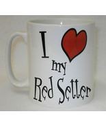 I Heart My Red Setter Mug Can Personalise Funny  Dog Lover Owner Breeder... - $9.23