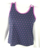 Tail Women Size Medium Pink Black Polka Dot Fitted Built In Bra Athletic... - $5.89
