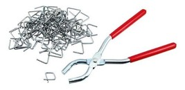 Hog Ring Pliers and 100-Piece Ring Set - $10.38