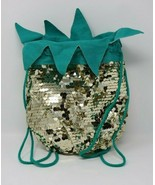 Girls Pineapple Cinch Mini Backpack with Gold Sequins by Cat & Jack NWT - $15.81