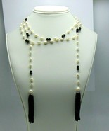 """Women's Fashion Freshwater Pearls Long Wrap Open Necklace 48"""" with Tassels - $25.64"""