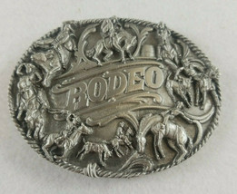Siskiyou Cowboy Horse Rodeo Calf Roping Western Belt Buckle 3-D Raised 1988 - $19.99