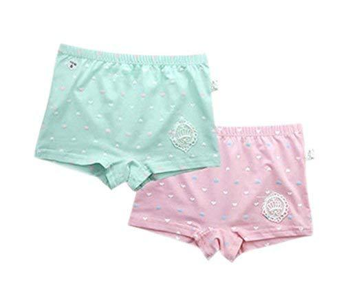 PANDA SUPERSTORE 2 Pcs Cotton Panties Kids Underpants Cartoon Little Girls Under