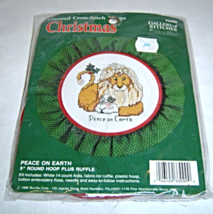 Counted Cross Stitch Kit Christmas Peace On Earth Lion Hoop 33099 New Bu... - $9.99