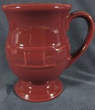 Longaberger Pottery Woven Traditions Paprika Grandmug Latte Coffee Cup Mug - $24.95