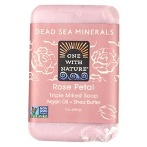 One With Nature Dead Sea Mineral Rose Petal Soap - 7 oz - $6.70