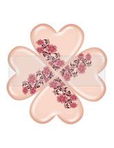 Clover Heart Flower5-Digital ClipArt-Art Clip-Gift Tag-Notebook-Scrapboo... - $2.00