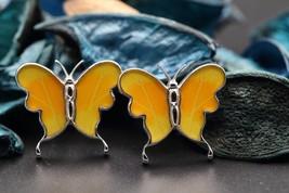 Navia Jewelry Butterfly Wings Phoebis philea Cufflinks HNCU-2Y - $49.99