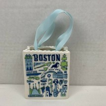 Starbucks Boston Been There Tote Bag Ceramic Christmas Ornament Gift Hol... - $27.43