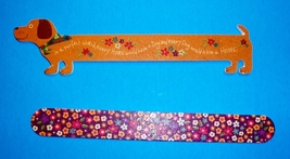 Dachshund Dog Shaped & Flower Print Nail File Set / Emery Boards - $12.00