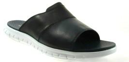Cole Haan Zerogrand Slide Men's BLACK/BLUE Lightweight Leather Sandals C27500 - $79.99