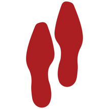LiteMark Red Removable Dress Shoe Footprint Decal Stickers - Pack of 12 - $19.95