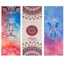 Pastel Indian Mandala Yoga Mat Spiritual Awakening Towel Gym Tibetan Ele... - $35.89