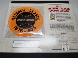 1925 National League Golden Jubilee Patch Cooperstown Collection New 1991 - $12.75