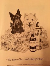Vintage 1953 Scottie Dog  Black & White Scotch Whisky  print ad - $15.83