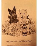 Vintage 1953 Scottie Dog  Black & White Scotch Whisky  print ad - $15.83