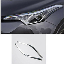 2PCS ABS Chromed Front Headlight Head Light Mouldings For Toyota C-HR CH... - $57.92