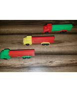 Vintage PEZ 3 Trucks Rare Yellow Green Red Cabs and Red Green Trailers N... - $65.00
