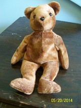 "plush brown toy bear TED E 2002 ty beanie stuffed animal 8"" tall - $9.89"