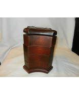 Red Walnut Wooden Heart Jewelry Box with 4 Compartments, from Bombay Com... - $74.25