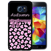 PERSONALIZED CASE FOR SAMSUNG S9 S8 S7 S7 S6 PLUS RUBBER LEOPARD WITH PI... - $13.98