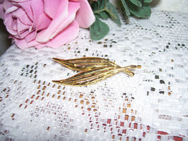 Goldtone Double Leaf Pin - $15.98