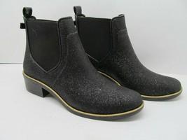 Kate Spade Black Glittery Chelsea Boots Women's Size 8 EUC - $57.82