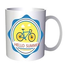 Hello Summer Bicycle Gift Funny Sea 11oz Mug d742 - $10.83
