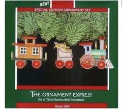 Hallmark 1989 The Ornament Express Keepsake Train Set 3 Pieces Locomotive NIB - $18.66