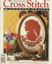 Cross Stitch & Country Craft Magazine Sept/Oct 1991 BHG  Silhouettes Sam... - $4.89
