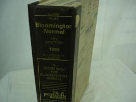 1990 Polk's City Business Directory Bloomington Normal Illinois Advertising - $27.71