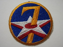 7th Air Force Patch New Old Stock But More Current Manufacturer :K6 - $4.00