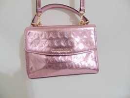 Michael Kors Jade Medium Leather Soft Pink Gusset Clutch AP 303 - $105.59