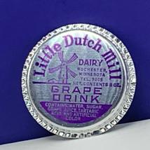 Dairy milk bottle cap farm advertising vtg label Metal Little Dutch Mill... - $13.66