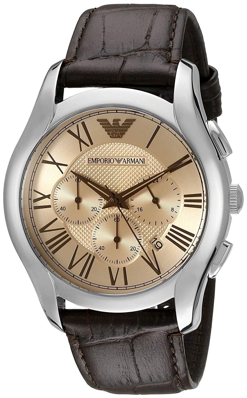 732f1377f Emporio Armani Men's AR1785 Classic Chronograph Brown Leather Watch -  $146.10