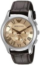 Emporio Armani Men's AR1785 Classic Chronograph Brown Leather Watch - $146.10