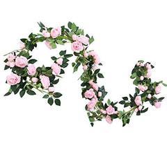 Koala Superstore 2PCS Artificial Flowers Garlands Fake Peony Flowers Green Leave - $21.00