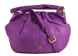 Givenchy Purple Leather Ruched Opening Hobo Shoulder Bags~RTL$2150 - $664.62