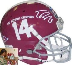 Trent Richardson signed Alabama Crimson Tide Full Size Authentic #14 BCS... - $249.95