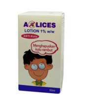 2 X A-Lices Lotion 1% w/w Anti-Lice Treatment 60ml Free Shipping - $28.90