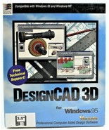 DesignCAD 3D for Microsoft Windows 95 New Sealed Free Shipping - $148.49