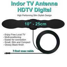 Enjoy Free Local TV with Slim Small Stylish Indoor HD TV Antenna 25 Mile... - $19.10