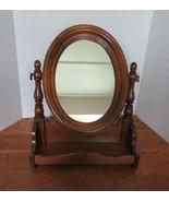 Older Vanity Dresser Top Swivel Shaving Mirror With Tray  - $49.95