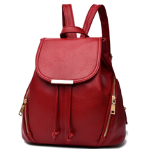 Unisex Leather Backpacks 5 Color Students Bookbags, Backpacks P204-5 - $39.00