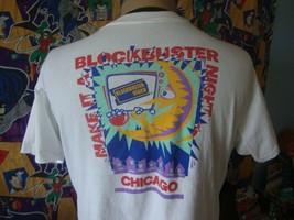 Vintage 90's Blockbuster Video 1994 Chicago T Shirt L  - $98.99